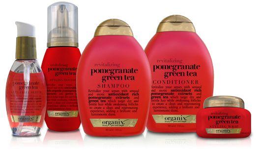Organix Pomegranate green tea shampoo and conditioner :-)