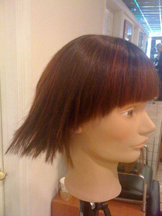 Side view Sebastian haircut with a blunt bang #hairbybela