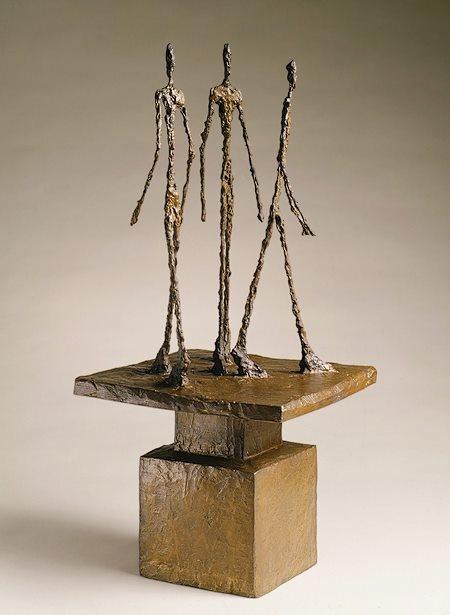 Alberto Giacometti, Three men walking II, 1949