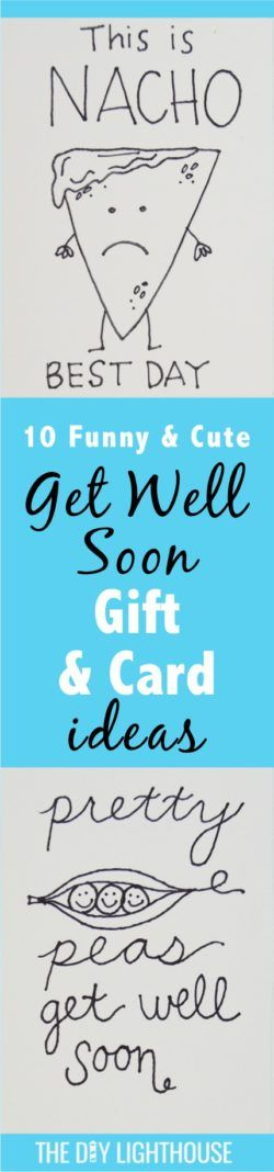 get well soon gift and card ideas- ideas-funny-and-cute DIY | Lighthearted and funny Get well soon gift idea for a boyfriend, friend, sibling, mom, dad, coworker, or neighbor | Light hearted and punny gift to go with your DIY get well soon card | fun DIY craft idea | give someone who is sick, going through surgery, or needing a little pick-me-up one of these cute cards with a punny gift | lots of puns!