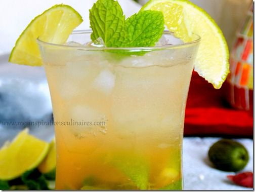 cocktail menthe citron vert