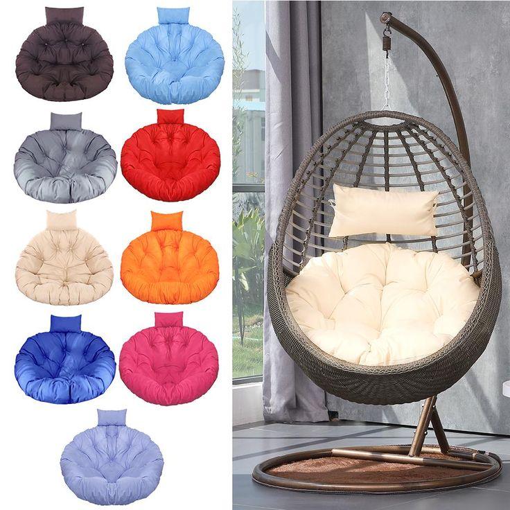 Hanging Hammock Chair Swinging Garden, Round Lounge Chair Cushions
