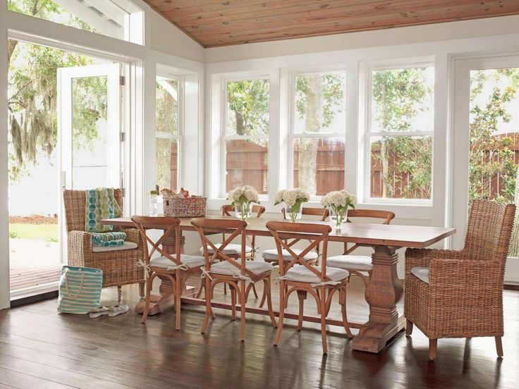 From Dump To Dreamy Beach House. Wooden ChairsDining Room DesignCottage  IdeasDining ...