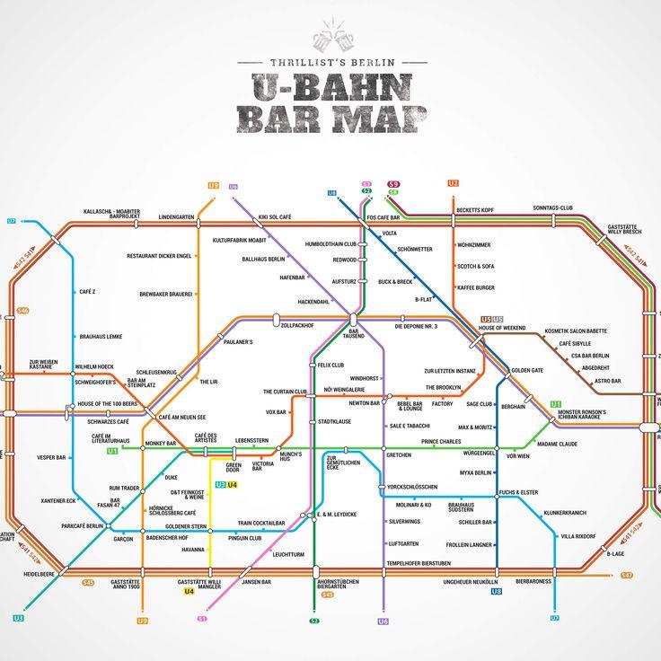 Berlin's first-ever U-Bahn Bar Map (not in Munich, but you know)
