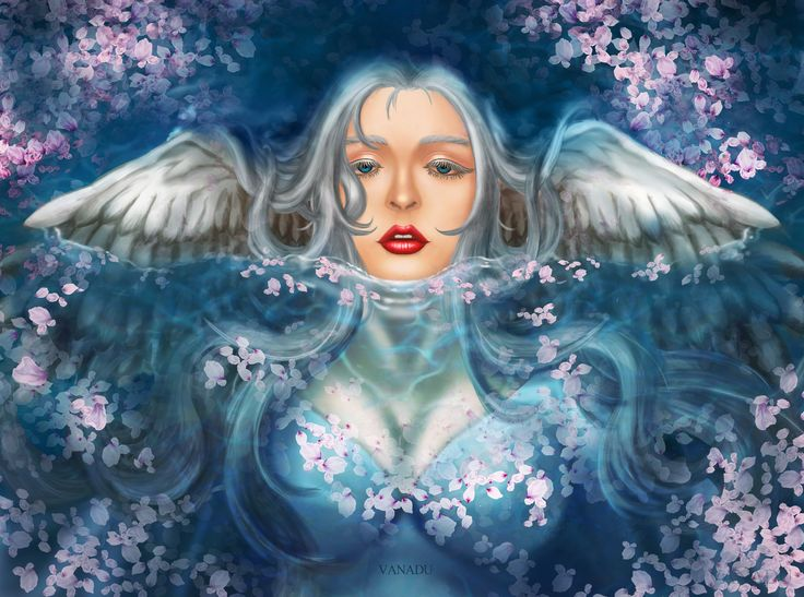 Alluring angel, Ryung-A Kim on ArtStation at https://www.artstation.com/artwork/kOPWx