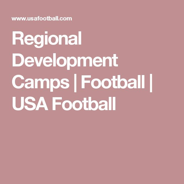 Regional Development Camps | Football | USA Football