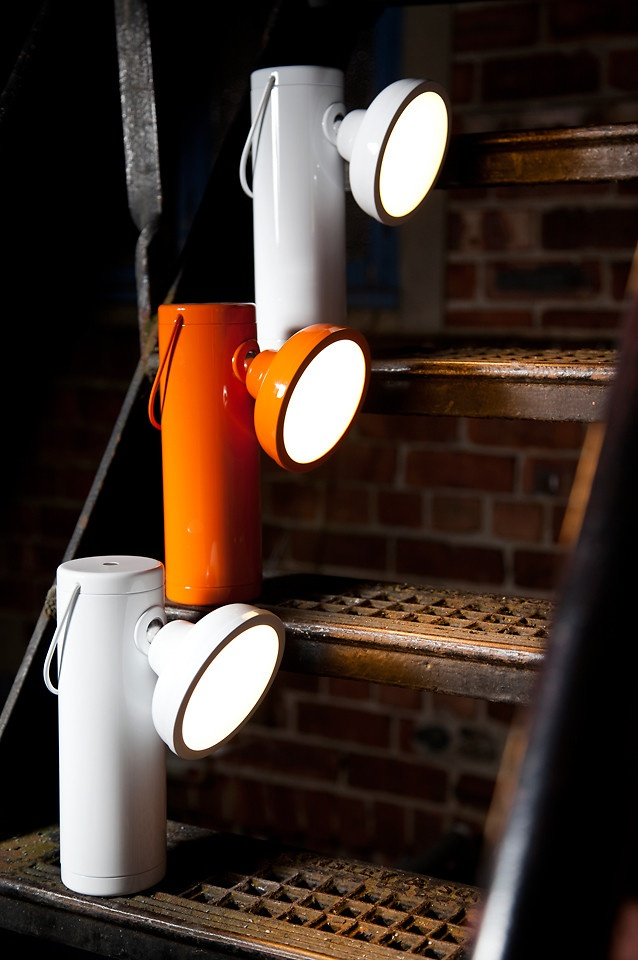 A Modern Take On The Classic Miner�s Lamp. The M Lamp is a handsome wireless lantern powered by a rechargeable lithium battery.  comment with ideas!