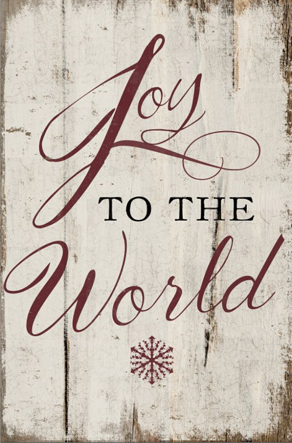 Joy to the world handmade wooden sign by DesignHouseDecor on Etsy