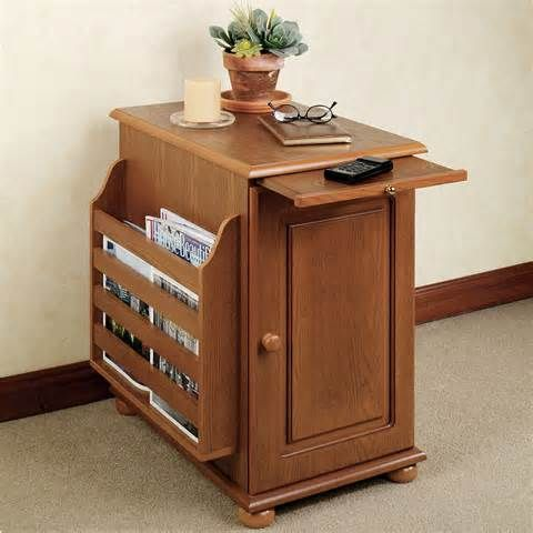 end tables with storage and magazine rack