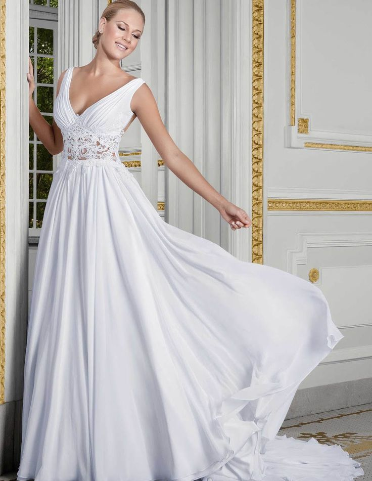 Find More Wedding Dresses Information About 2016 New V Neck Lace Dress Summer Beach Bridal