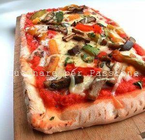la pizza alle verdure grigliate