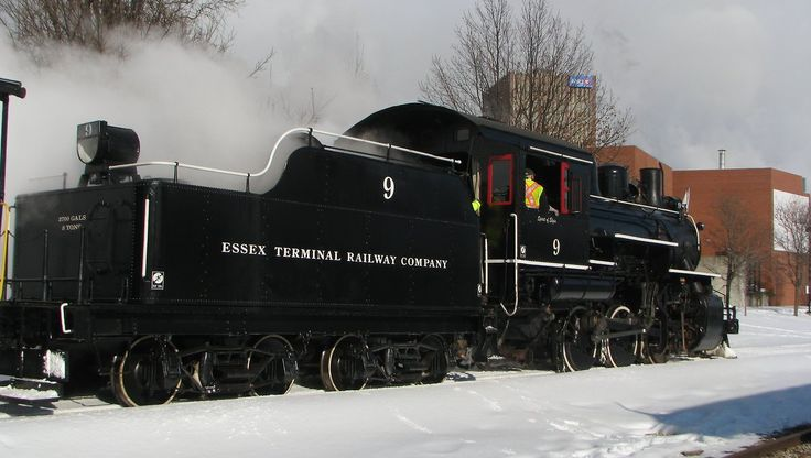 """""""This past year also saw the return to the rails of our historical steam locomotive, Essex Terminal Railway No. 9 having just been completely restored at our Restoration & Shop Facility in the Village of St. Jacobs.""""    Waterloo Central Railway"""