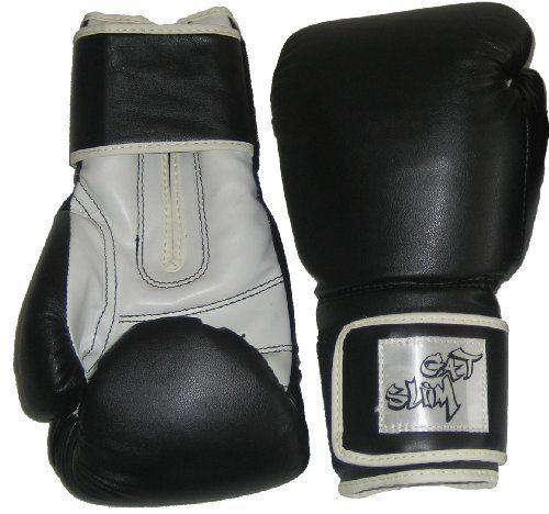 GAT SLIM Boxhandschuhe - Sparring Handschuhe - Sandsackhandschuhe 10oz schwarz aus Vinyl GAT SLIM.