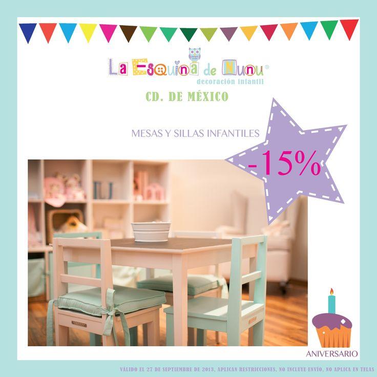 Sabemos que han estado esperando mucho esta promoción! Aprovechen. Mañana 27 de #septiembre, súper #descuento en la #mesa y #sillas #infantiles, con o sin #pizarrón!  #laesquinadenunu #nursery #baby #bebe #instababy #instababies #instakids #cuarto #recamara #room #mueble #mobiliario #blancos #decoracion #infantil #deco #niña #niño #kids #furniture #safe #diseño #interior #design #cddemexico #aniversario #promocion