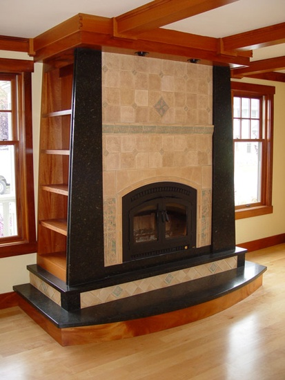 Custom Fireplace Cabinetry By Lackey Woodworking. More Info Here:  Http://santacruzconstructionguild