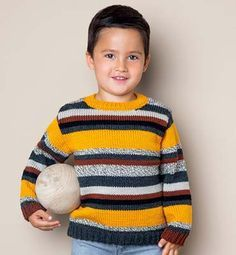 Modèle pull rayé Enfant