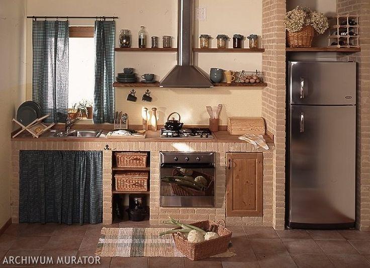 Liczba pomysłów na temat Rustykalne Kuchnie na   -> Kuchnia Z Cegly Klinkierowej
