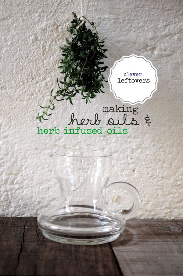 Herbalicious! – Find out how to make Herb Oils & Herb Infused Oils.  Another way to use up leftover herbs!