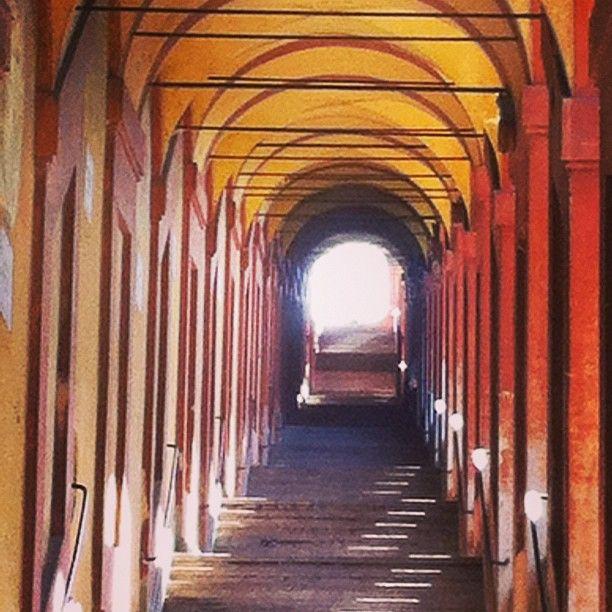 Bologna, foto di Cristina Sita, portico verso San Luca dal CONCORSO I PORTICI DI BOLOGNA
