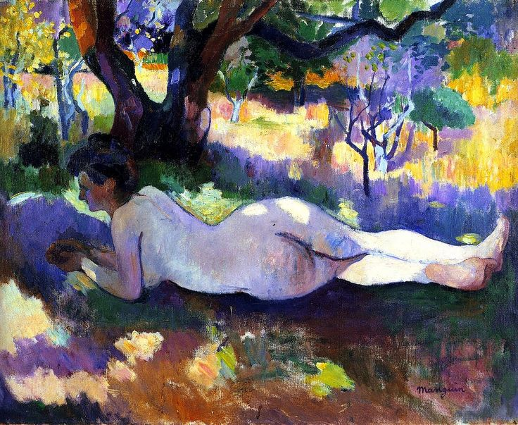 Henri Charles Manguin was a French painter, associated with Les Fauves. Manguin entered the École des Beaux-Arts to study under Gustave Moreau, as did Matisse and Charles Camoin with whom he became close friends.
