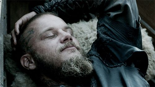 Pin for Later: 21 GIFs That Prove Vikings Is the Sexiest Show You're Not Watching  What's he dreaming about? We know what we are . . .