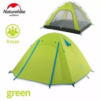 ของดี  Naturehike aluminum pole tent outdoor 4 people Double layerWaterproof wind stopper camping tent set - intl  ราคาเพียง  3,233 บาท  เท่านั้น คุณสมบัติ มีดังนี้ Applicable number: 1-4 people External tent waterproof: PU coating waterproof 3000mm Inner tent material: 210T ripstop polyester cloth Bottom sheet material: 150D anti-tear Oxford cloth Inner rod material: 7001 aviation aluminum alloy pole Size: 210 * 135 * 110cm Weight: 2.1kg Accessories: aluminum spike 10-12 root, wind rope…