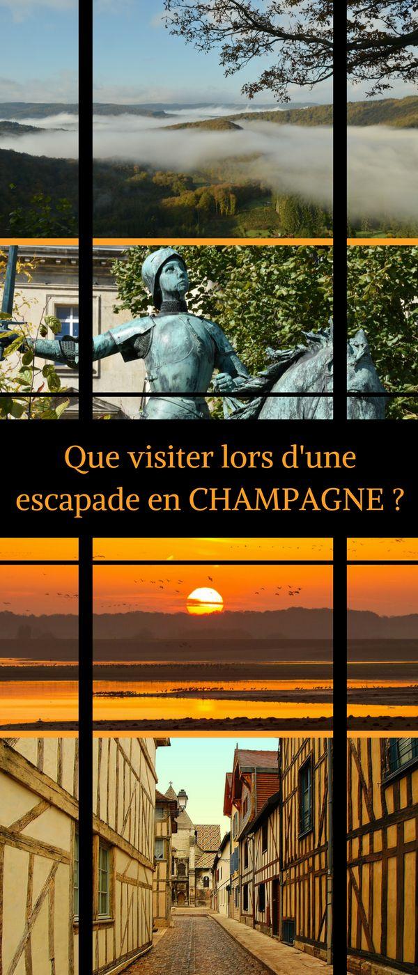 Envie d'une idée de week-end ? Nous vous proposons la Champagne. Pas loin de Paris et pourtant si dépaysante… Voici notre TOP des lieux à visiter ! #Voyage #Champagne #Troyes #Reims #RoadTrip #France