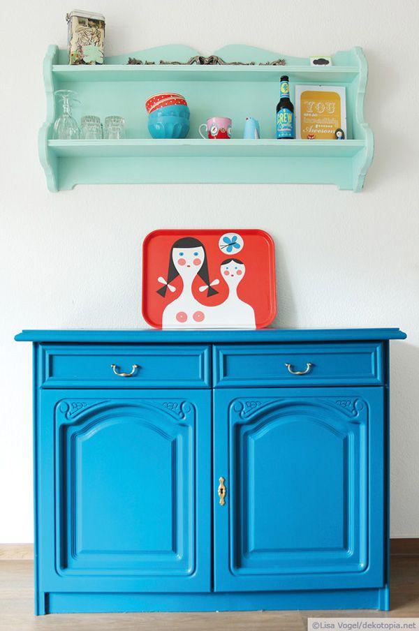 194 best ❤ \/\/\/ Möbel streichen images on Pinterest Furniture - bunte hocker designs streichen technik