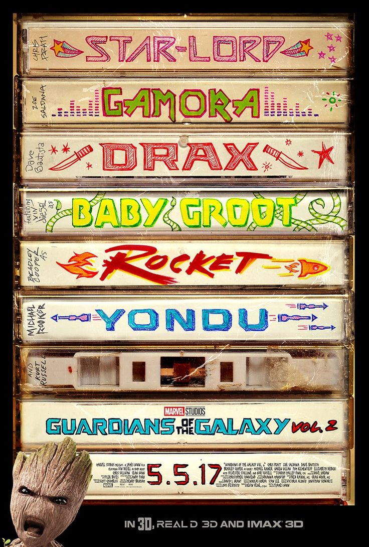 Genial el nuevo poster de Guardianes de la Galaxia Vol.2 // Great new poster for Guardians of the Galaxy Vol.2
