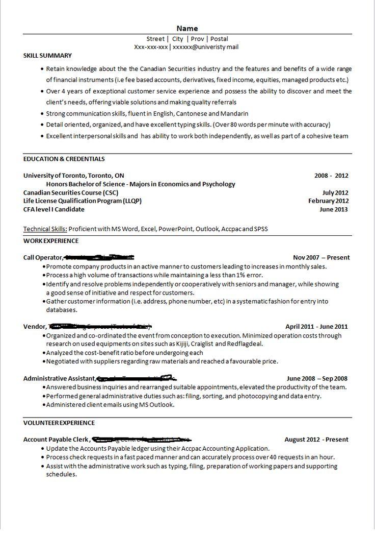 Resume banks teller
