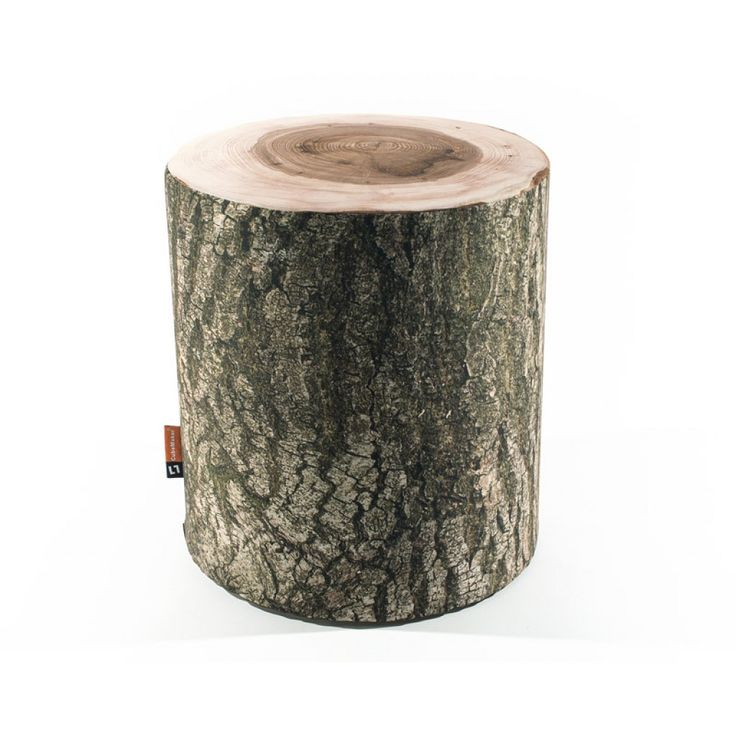 CubeMaker®   DesignZylinder Holz Sitzzylinder Hocker Woodstyle, Baumstamm.