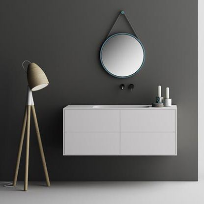 Wall-hung washbasin cabinet / Corian® / contemporary / with drawers INFINITY: 4 PLANIT