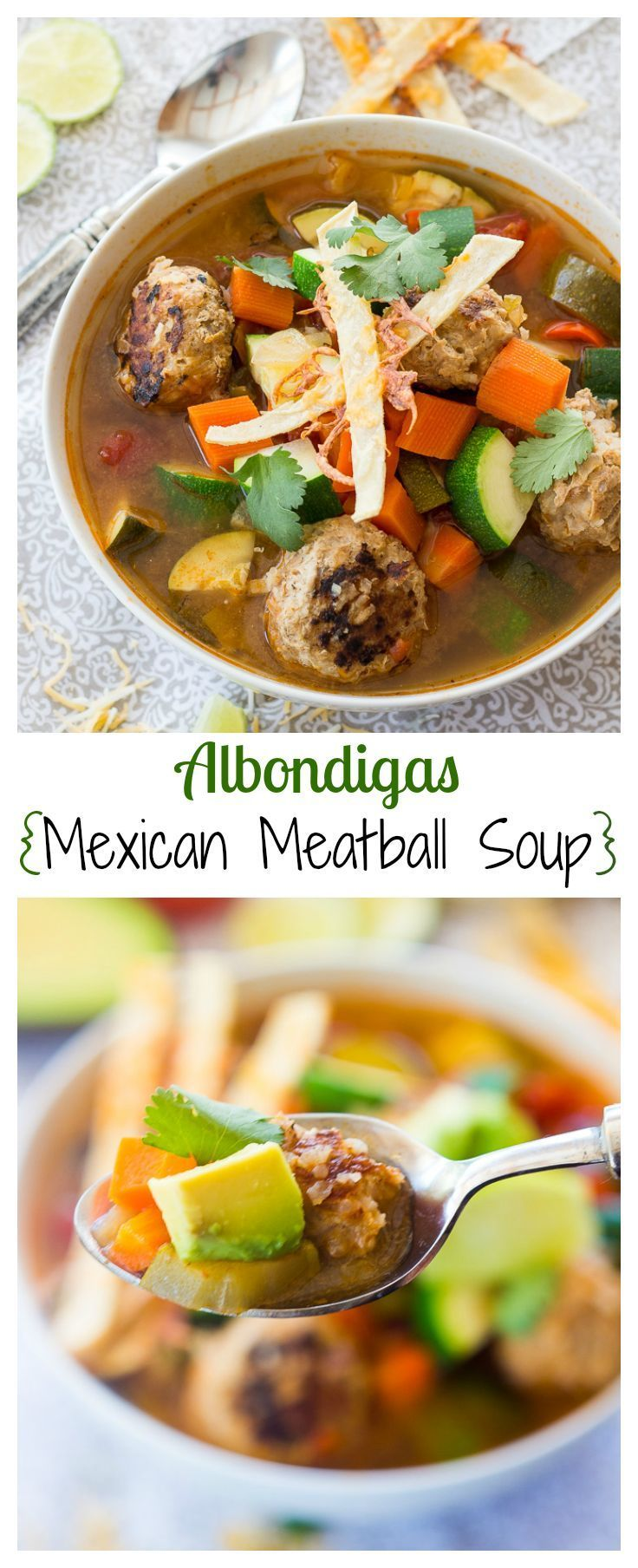 This classic Mexican meatball soup is smokey, spicy and hearty, perfect for a cold winter evening. If you enjoy authentic Mexican food, this soup is for you.