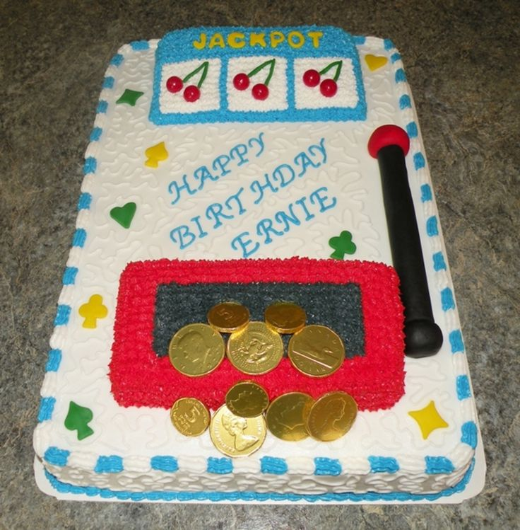 Casino Slot Machine Cake
