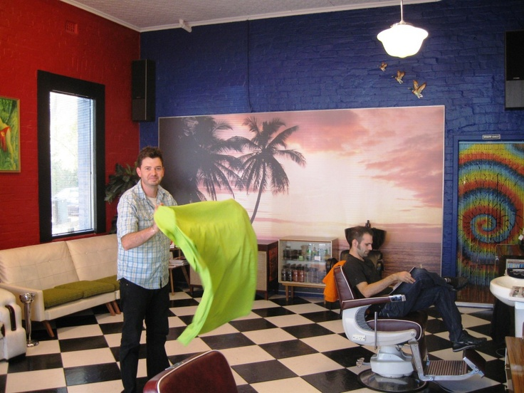 Fighting for sanity in your city - sort of - A Beautiful City - Clint in Mr Snippy's - Hay Street,Subiaco