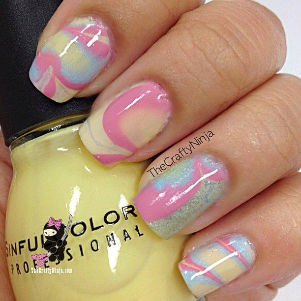 Marble Nail Polish Instructions: 151 Best Marble/water Marble Nails Images On Pinterest