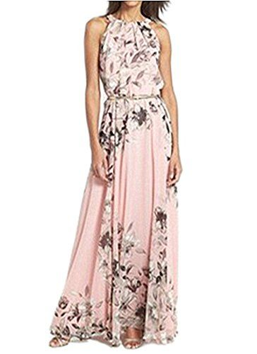 Anermy Women Sexy Spaghetti Strap Sleeveless Floral Maxi Long Dress Beach Summer *** To view further for this item, visit the image link.
