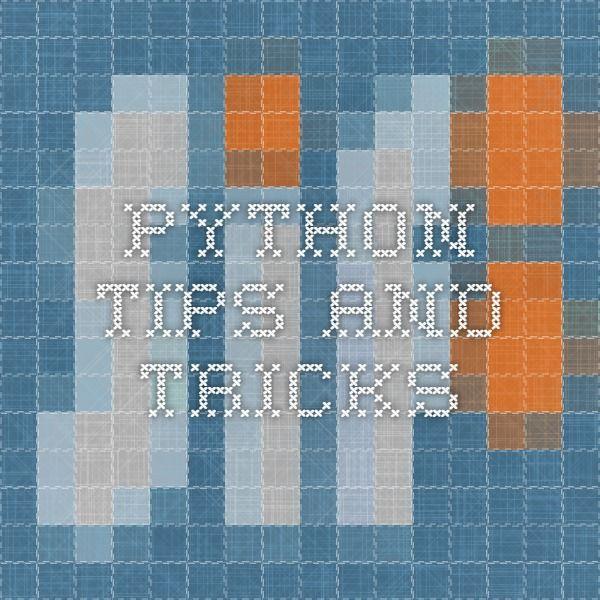 python tricks the book pdf