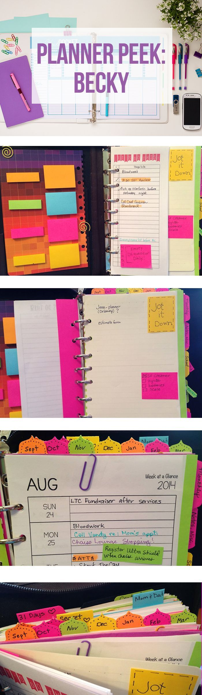 Get organized in 2015 New Year Resolutions : Take a tour of Becky's DIY Planner