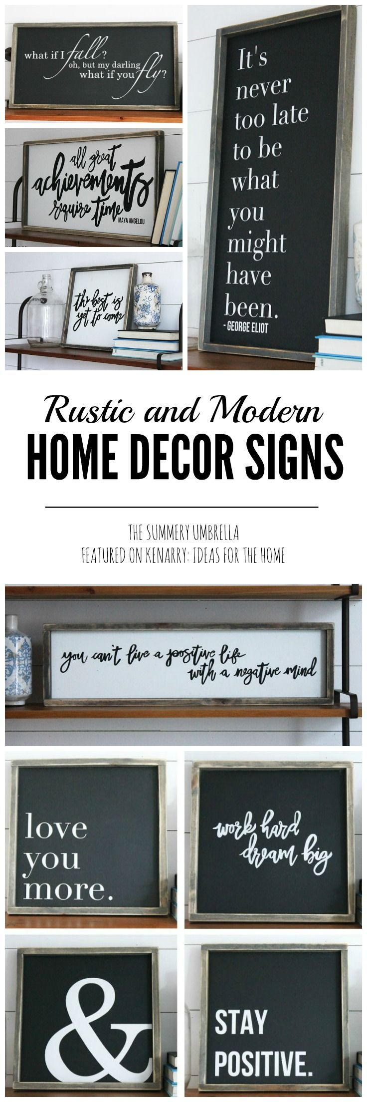 Beautiful rustic spring signs from the summery umbrella for Home decor 96