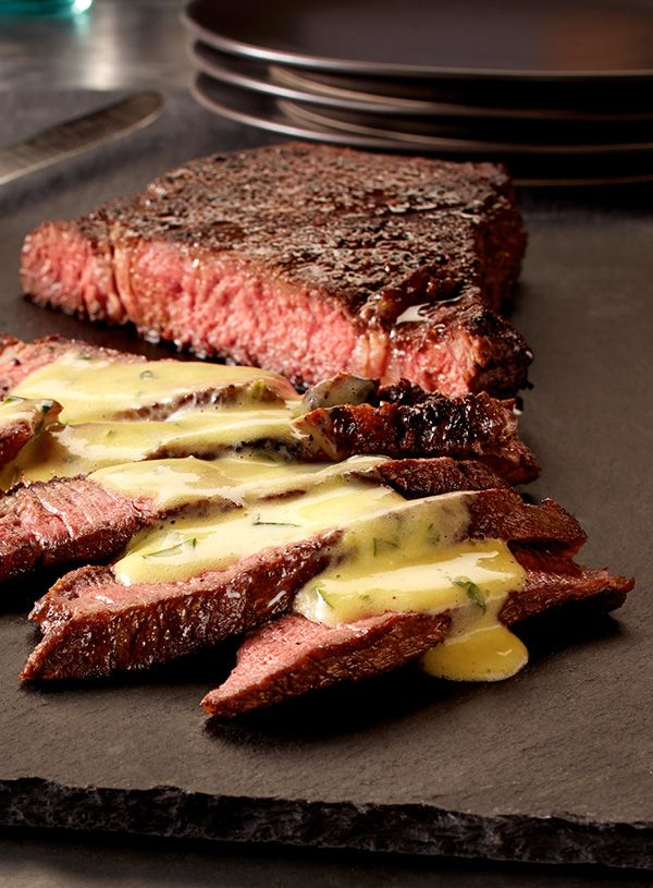 Steak is a treat by itself. topped with a homemade cilantro-lime hollandaise – it's gourmet. #EuroStyleButter