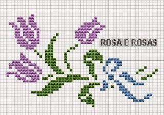 Tulip cross stitch.