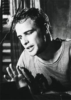"Marlon Brando in A Streetcar Named Desire- ""Blanche, under the Napoleonic code, a man has gotta take an interest in his wife's affairs."" Lol"