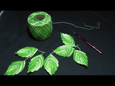 ▶ Вязание крючком - Листики - YouTube