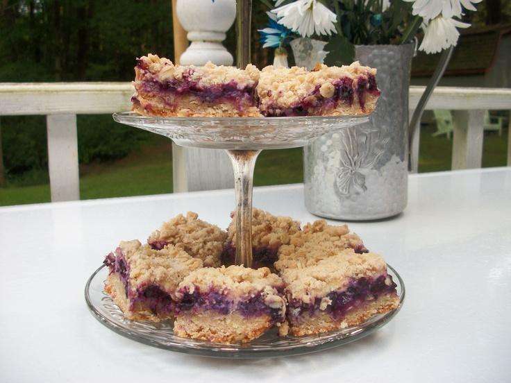 Blueberry Streusel Bar/Lemon-cream Filling