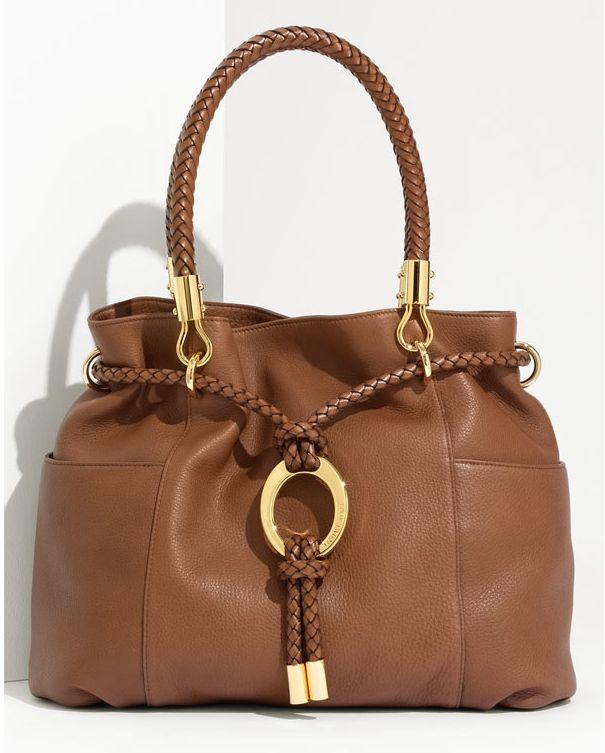 Michael Kors Skorpios Large Shoulder Bag Cinnamon Textured Leather 114