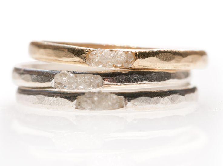 Raw Diamond Cluster Ring by Blair Lauren Brown Jewelry | Rings | AHAlife.com