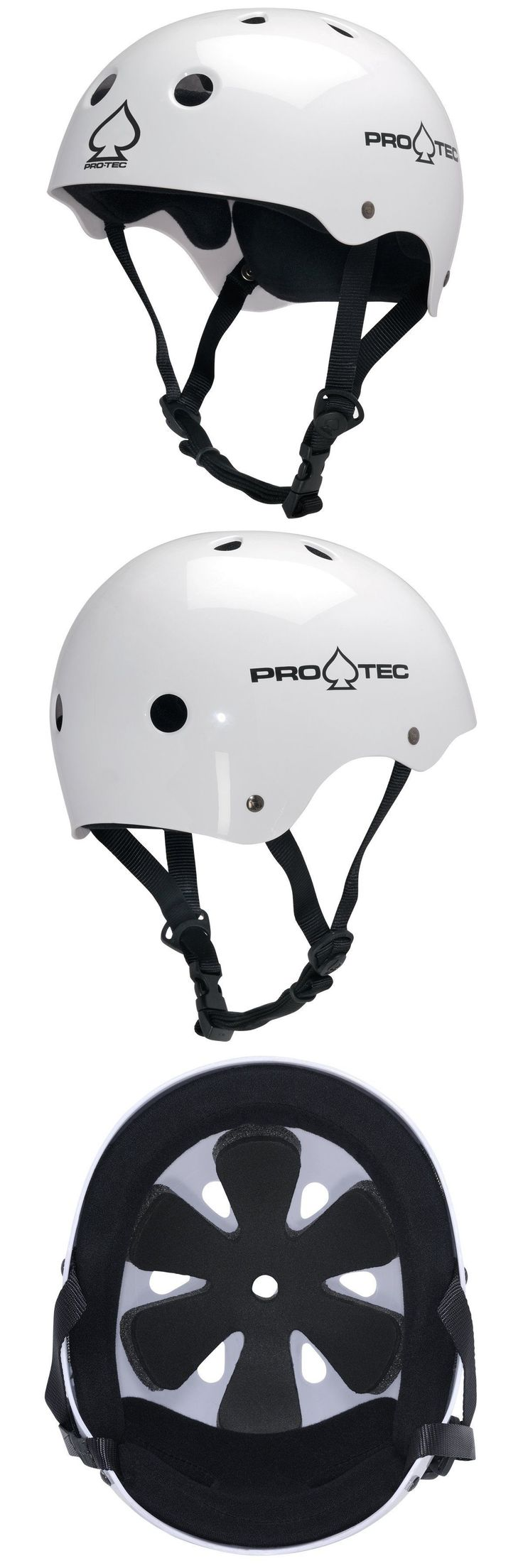 Protective Gear 36317: Pro-Tec The Classic Helmet For Bike Skate: Gloss White: Xl (59-60Cm) -> BUY IT NOW ONLY: $37.05 on eBay!