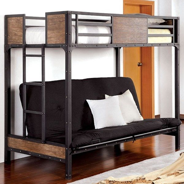 Furniture Of America Clapton Futon Bed Mattress Not Included In