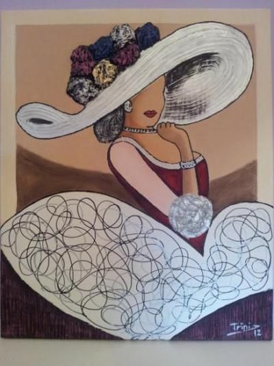 64 best images about damas y meninas on pinterest for Pintura acrilica moderna